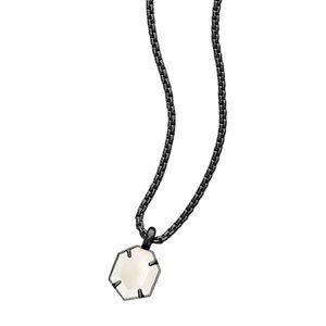 KENDRA SCOTT Teo Necklace Gunmetal Mother of Pearl